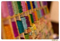 Colourful bangles - a must for the traditional Indian bride.