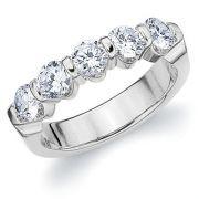 5 DIAMANTS SERTIE BRIDE OR BLANC #alliancedemariage #baguediamant #solitairediamant #diamant