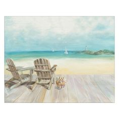 Seaside Morning No Window Canvas Wall Art, Multicolor
