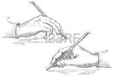 crit la main de l artiste Vecteur de Hand Holding Crayon au style de gravure r tro  Banque d'images