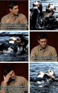 Dead in Water ... Jensen and the scene in water.