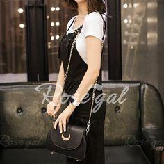 Sweet Moon Print and Ear Pattern Design Women's Crossbody Bag - BLACK