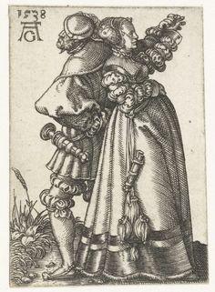 Heinrich Aldegrever (1502-1561) - Dancing Couple - 1538