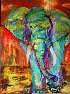 Beautiful elephant from Passions of an Odd Chick
