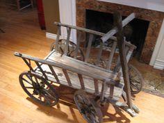 Antique European Cart Rustic Primitive Wood Wagon Shabby Farm House Chic Crop Hauler Outdoor Statement Piece. $549.50, via Etsy.