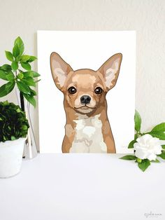 Chihuahua Art Print, Chihuahua Wall Art, Dog Wall Art, Dog Lover Gift, Chihuahua Memorial, Chihuahua Gift, Dog Breed Print, Dog Breed Gift Dog Toy Basket, Cute Dog Collars, Chihuahua Art, Cool Dog Houses, Popular Dog Breeds, Animal Sketches, Dog Portraits, Dog Lover Gifts, Dog Accessories
