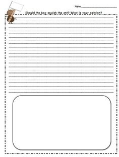ant writing paper Hey, little ant we used this activity for our ant unit, but it could also work really well for a persuasive writing unit - leftover craft scraps (yarn, paper, beads, etc) posted by rene walters at 8:40 pm email this blogthis.