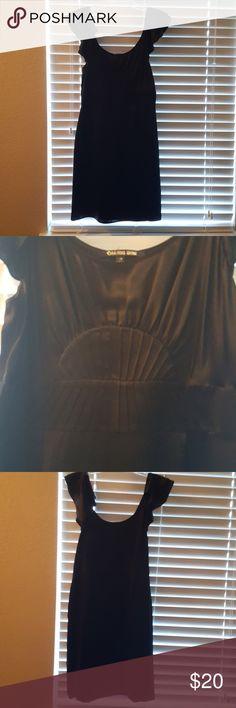 black silk dress shell 100% silk   lining 97% polyester 3% spandex Gianni Bini Dresses Midi