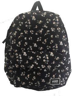 1f558c3b16 Vans Classic Floral Black and White Realm Backpack  Amazon.ca  Luggage    Bags