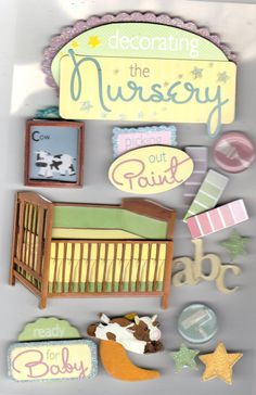 Baby Nursery  Boy Girl 3D Stickers por ScrapbookCraftPalace en Etsy