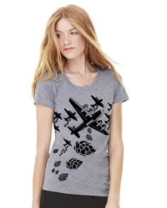 Hop Bomber  Womens Craft Beer TShirt by brewershirts on Etsy, $20.00