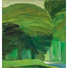 Roger Mühl (France Le Parc au printemps (n.) oil 85 x 80 cm Abstract Painters, Abstract Landscape, Landscape Paintings, Abstract Art, Green Landscape, Green Art, Art Plastique, Beautiful Artwork, Painting Inspiration