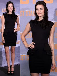 Jaimie Alexander in an LBD and Black Brian Atwood Sandals — Boring or Beautiful?