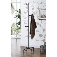 bb73ef8daba Shop Bronx-Metal Pipe Style Coat Rack - Free Shipping Today - Overstock -  16373891