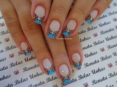 Manicure And Pedicure, Gel Nails, Nail Time, French Nail Designs, French Nails, Beauty Nails, Nail Art, Edgy Nail Art, Flower Nails