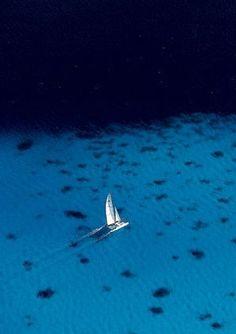 Catamaran in the Society Islands, French Polynesia, France #sail