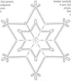 Crochet ideas that you'll love Free Crochet Snowflake Patterns, Crochet Stars, Crochet Snowflakes, Christmas Snowflakes, Christmas Star, Crochet Doilies, Crochet Patterns, Crochet Christmas Decorations, Crochet Ornaments