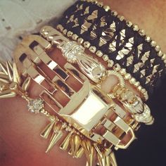 Gold arm party! | Stella & Dot