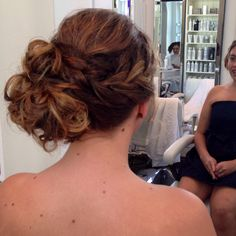 Curly prom up-do