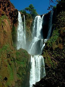Ouzoud falls are located in Africa in Morocco