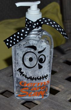 Halloween Hand Sanitizer  vinyl  Great for by belleoftheballdesign, $7.00