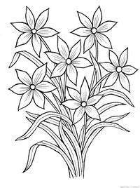printable simple flower coloring pages from Flowers Coloring Pages Printable. Flowers become great demanded object for most people in the world. Children, teenagers, or adult really like them. The flower's presence are alway. Garden Coloring Pages, Printable Flower Coloring Pages, Vegetable Coloring Pages, Easy Coloring Pages, Pattern Coloring Pages, Coloring Pages For Girls, Mandala Coloring Pages, Hand Embroidery Design Patterns, Embroidery Flowers Pattern