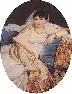 Madame Philibert Rivière, née Marie-Françoise-Jacquette-Bibiane Blot de Beauregard by Jean Auguste Dominique Ingres (Louvre)