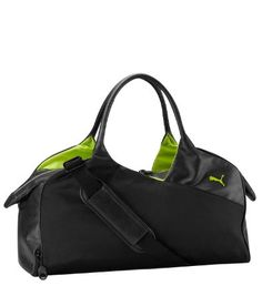 Just because you can keep up with the boys at the gym, doesn't mean you have to accessorize like them. This lightweight carryall has plenty of room for all your workout gear, but also a sleek style – with a fun pop of color – that's purely feminine.