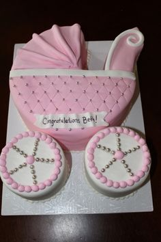 Cake on pinterest carriage cake cakes and baby shower cakes