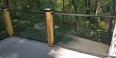 Learn how to clean glass deck railings easily and quickly to keep your DIY deck railing looking beautiful Deck Railing Systems, Glass Railing System, Deck Railings, Glass Deck Railing, Aluminum Decking, Deck Builders, Thing 1, Deck Lighting, Diy Deck