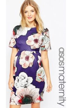 Geprinte jurken - Wiggle Dress In Textured Rose Print