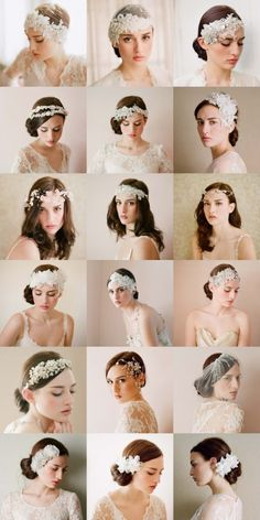 In case my half-up hair won't work, maybe hair pieces and fascinators will do the trick.