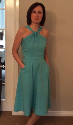 Linen Lonsdale dress @sewaholic pattern