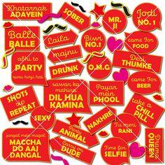 Desi Wedding Decor, Quirky Wedding, Wedding Ideas, Wedding Decorations, Wedding Badges, Wedding Cards, Wedding Photo Booth Props, Wedding Shoot, Indian Wedding Photos