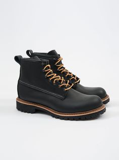 Red WingIce Cutter 2930 D-Width Black Ottertail Waterproof Leather Lined with Natural Wool Norwegian Welt Durable Vibram Lug Sole Water & Ice Resistant Made in USA