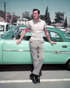 Rock Hudson from The Scandals of Classic Hollywood. I love the man, but there isn't enough plaid shirts in all the world- and that's the way we like him :D