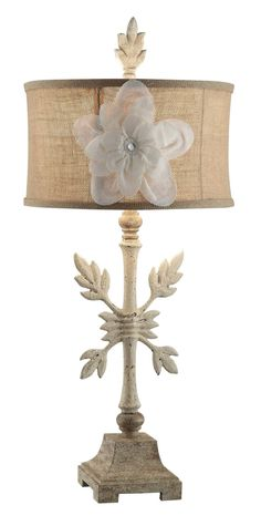"""Summit Crossed Branch 31"""" H Table Lamp with Drum Shade"""