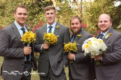 #groomsmen {Real Plus Size Wedding} Vintage Alabama Yellow and Gray Wedding | j. woodbery photography | Pretty Pear Bride | http://prettypearbride.com/real-plus-size-wedding-vintage-alabama-yellow-and-gray-wedding-j-woodberry-photography/