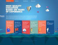 Sky 2 Design - Flat website design