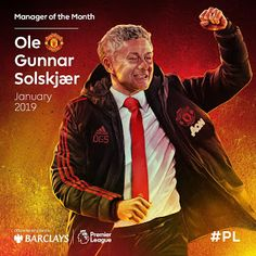 Ole Gunnar Solskjaer has been crowned Premier League manager of the month, becoming the first Manchester United boss to win the award since Sir Alex Ferguson. Premier League Teams, Barclay Premier League, Football Latest, Football Team, Manchester United Club, Michael Carrick, Sir Alex Ferguson, Team Coaching, Man United