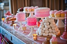 Deliciously Darling | Pink Dessert Table | Wedding Dessert Table #desserts #wedding