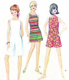 1960s Womens Romper Pattern McCalls 8815 Mod by paneenjerez, $10.00 - Basis for Vivocito's 2014 Spring/Summer Culotte Dress in rayon-challis or wild nettles/bamboo weave, believe it or not!
