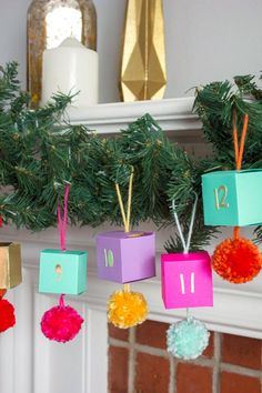 DIY paper ornament advent calendar. Styling and photo by Andrea Ramirez (via Oh Happy Day!).
