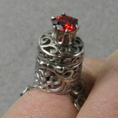 Sterling Silver Apothecary Ring by oscarcrow on Etsy, $75.00
