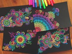 """15.5k Likes, 165 Comments - Simran Savadia (@floral.art) on Instagram: """"Gelly roll doodles are actually one of my favourite things to draw 😂❤️ I really need to stop You…"""""""