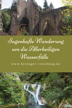 Sagenhafte Rundwanderung um die Allerheiligen Wasserfälle, Klosterruine Allerheiligen im Schwarzwald bei Oppenau