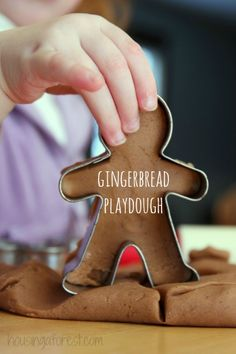 Homemade Gingerbread Play Dough Recipe ~  It smells amazing!