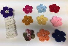 Hand Crocheted Baby Girl Toddler Interchangeable Flower Headband #Handmade