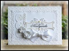 Beautiful & Elegant this Pure Elegance wedding card created by Julie Overby using Spellbinders
