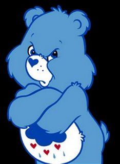 "Grumpy Bear: ""Straight up not givin' a shit"" since 1984"